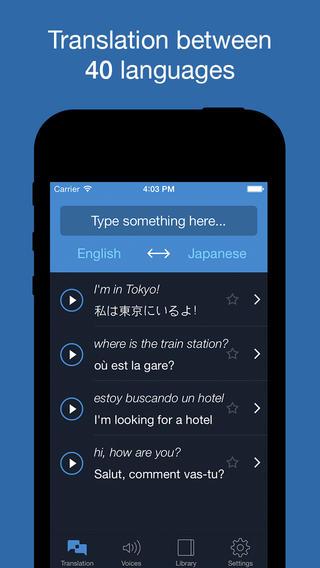 Apps de traducción para iOS
