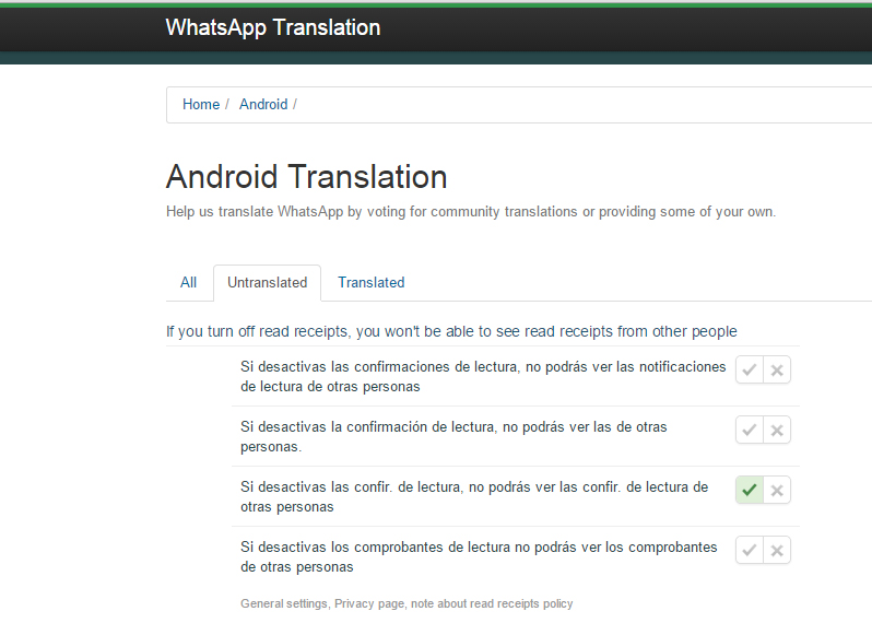 quitar el doble check azul de Whatsapp